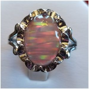 5ct Pink Jupiter Opal Ring Size 7